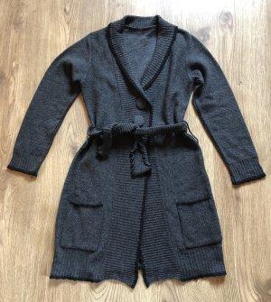 Jersey de punto gris antracita-negro