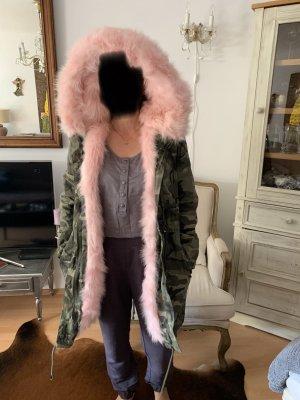 Osley Abrigo con capucha multicolor