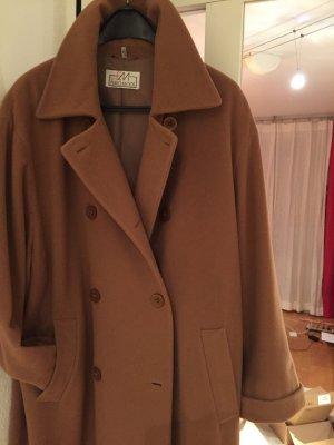 Euromoda Abrigo de lana marrón claro