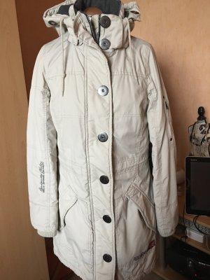 Soccx Manteau à capuche beige clair