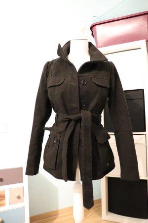 Winter Mantel winterjacke von h&m schwarz coat business casual look