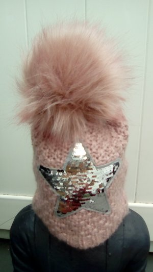 Knitted Hat rose-gold-coloured-silver-colored