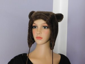 Blind Date Bobble Hat dark brown