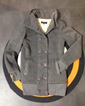 Winter- oder Übergangsjacke, -mantel, mit weichen Innenstoff, grau