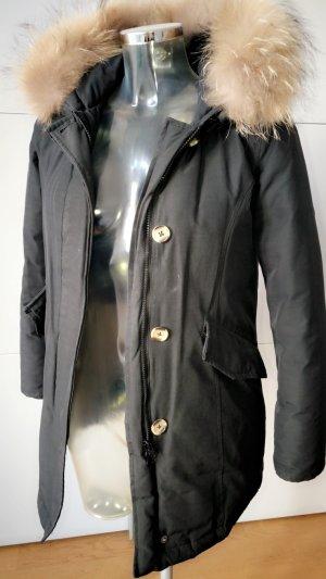 Manteau en duvet noir-bleu foncé