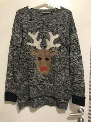 Winter Pullover mit Rentier