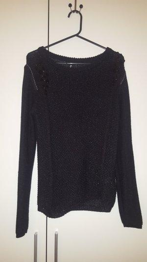 Winter Pullover mit schwarze Steine Dekoration ❤