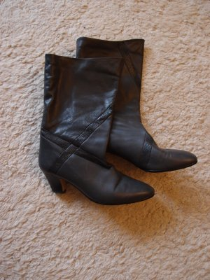 WINTER SALE - Graue Stiefel aus Leder