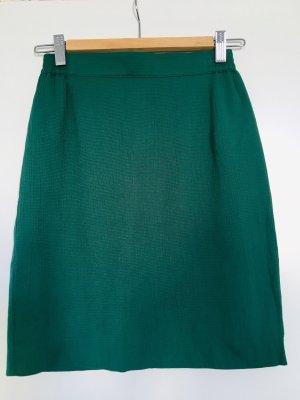 Vintage Falda de talle alto verde bosque-petróleo