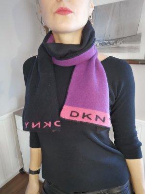 DKNY Écharpe en cachemire noir-violet