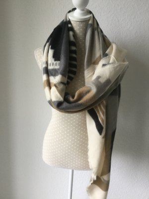 Winter Schal mit Print , sehr weich , plaid , wie reisedecke