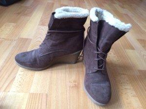 Graceland Korte laarzen wolwit-zwart bruin