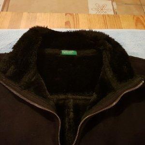 Winter Schwarze Jacke von Benetton