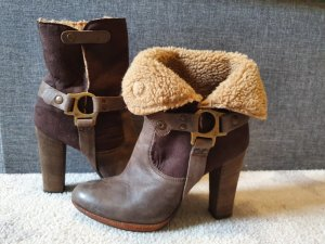 Winter Booties sand brown-dark brown