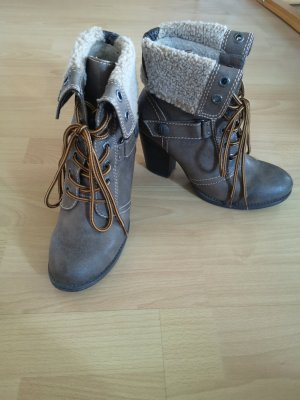 Marco Tozzi Winter Booties gold-colored-grey brown