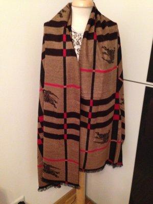 Winter Stola/Schal Check-Muster*Original*190x70  in Rot/Schwarz