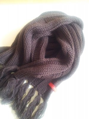 Winter Strick Schal Quasten Esprit braun