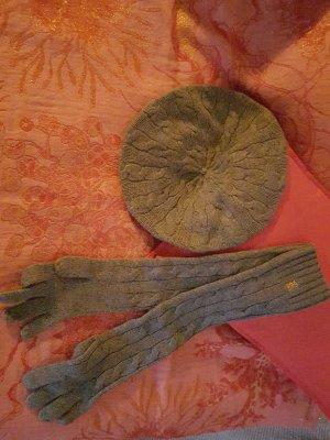 Winter Strick Set mit Baskenmütze und Handschuhen von Ralph Lauren Rugby, Neu