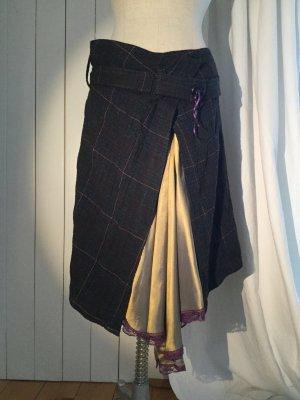 Dept Wraparound Skirt multicolored mixture fibre