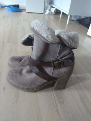 Pier one Winter Booties light brown-brown leather