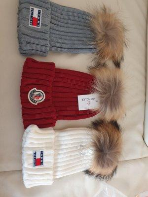 Winter Wollmütze mit Bommel