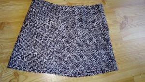 Jupe tricotée blanc-noir