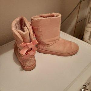 Bottes de neige vieux rose