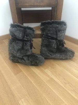 KMB Botas de nieve negro-gris oscuro