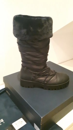 Armani Jeans Snow Boots black-anthracite mixture fibre