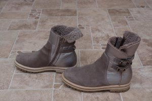 AGL Boots grey brown-silver-colored