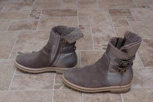 AGL Botas marrón grisáceo-color plata