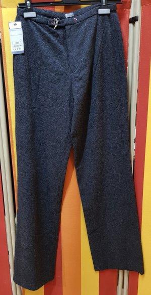 Wollen broek antraciet-donkergrijs