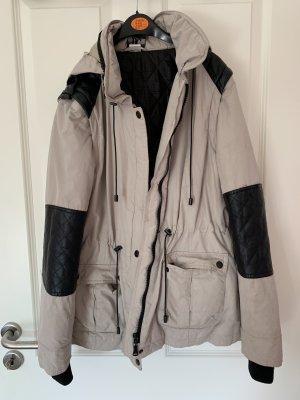 BC Collection Veste d'hiver noir-marron clair
