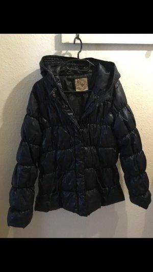 Down Jacket dark blue-pink