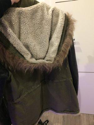 Long Jacket khaki-black