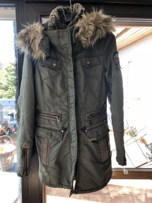 Kuhjo Fur Jacket green grey