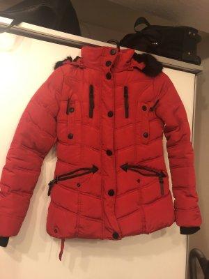 Winter Jacket dark red-black