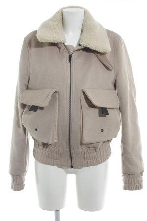 Veste d'hiver beige molletonné