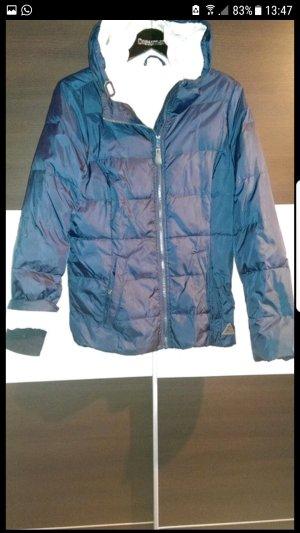 Winterjacke blau mit Kapuze
