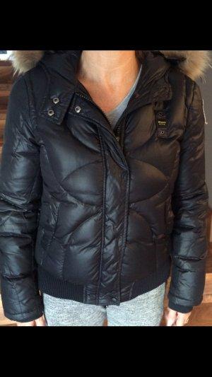 Blauer Chaqueta de invierno negro-taupe