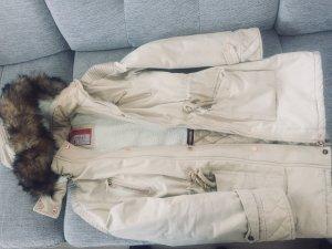 Giacca di pelliccia beige