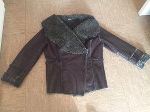 Apriori Giacca di pelliccia antracite-marrone-grigio