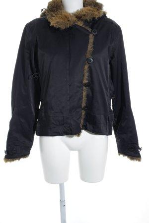 Winterjacke dunkelblau-schwarz Street-Fashion-Look