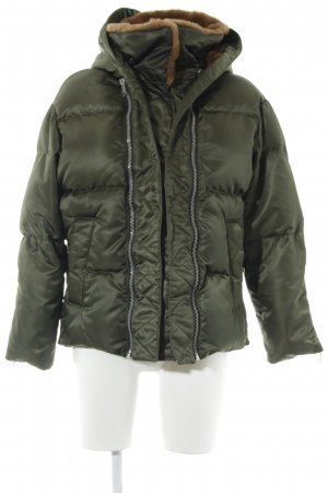All Saints Winterjacke dunkelgrün-hellbraun extravaganter Stil