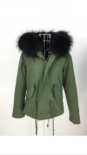 Winterjacke Echtes xs 34 neu schwarz grün