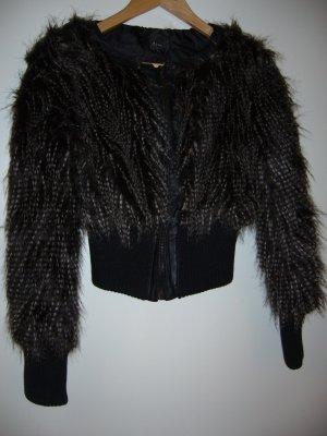 Winterjacke Federimitat braun-schwarz XS 34 Ann Christine
