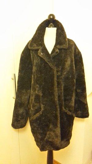 Winterjacke - grau miliert - Größe 46