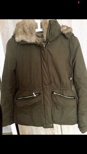 Winterjacke in Kaki