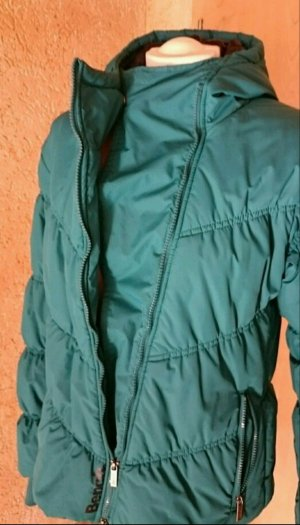 Winterjacke in petrol
