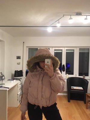 Winterjacke in Rose